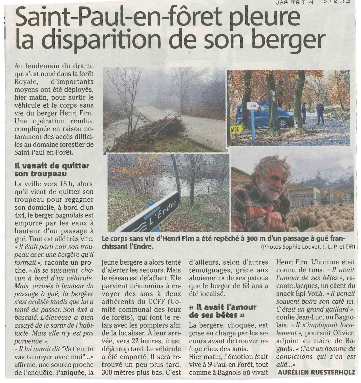Disparition du Berger
