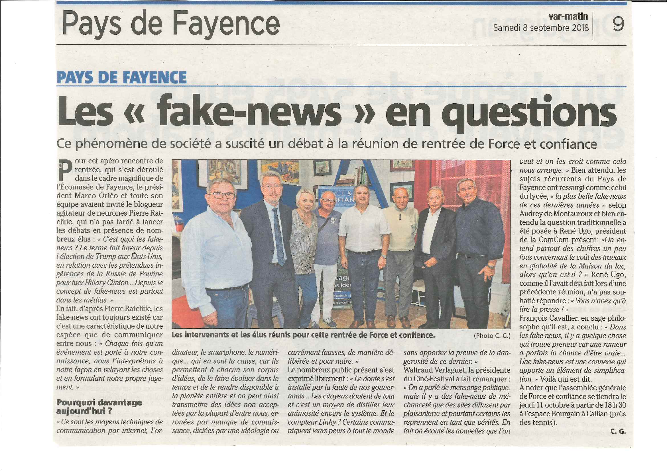 Les Fake-Newsen questions