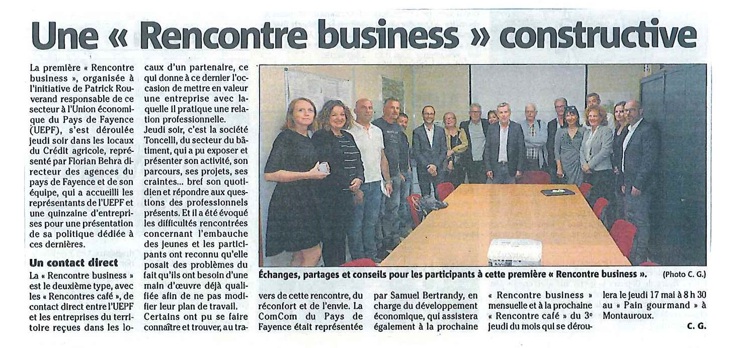 Une rencontre Business